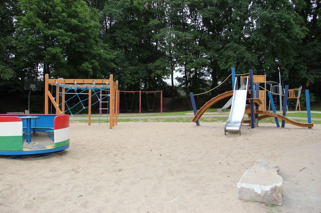 Der neu gestaltete Kinderspielplatz am Jröne Meerke.