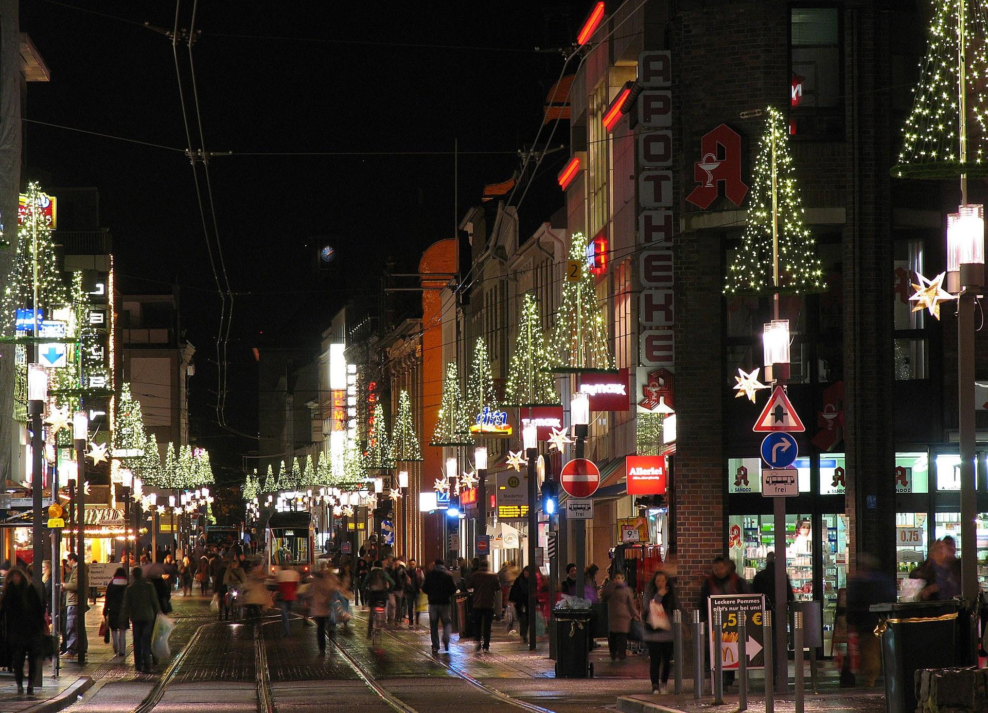 Weihnachtsbeleuchtung — Neuss am Rhein