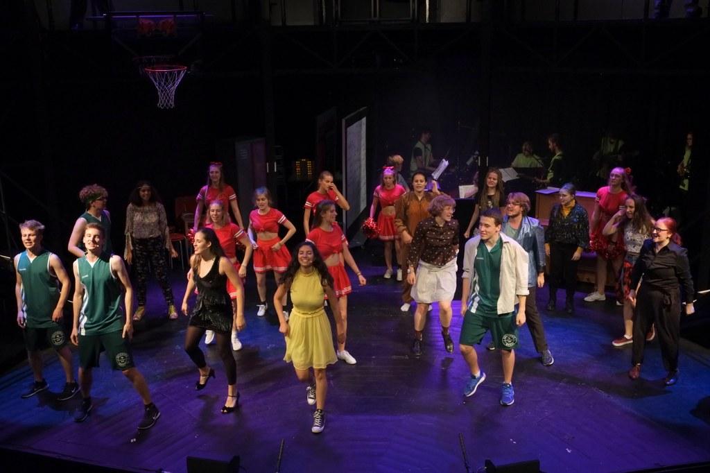 """Die Produktion """"High School Musical"""" hat 2018 alle bisherigen Besucherzahlen bei den Neusser Musicalwochen  übertroffen. """"Alice im Wunderland"""" soll diese Erfolgsgeschichte 2019 fortsetzen. Foto: B. Wilms"""