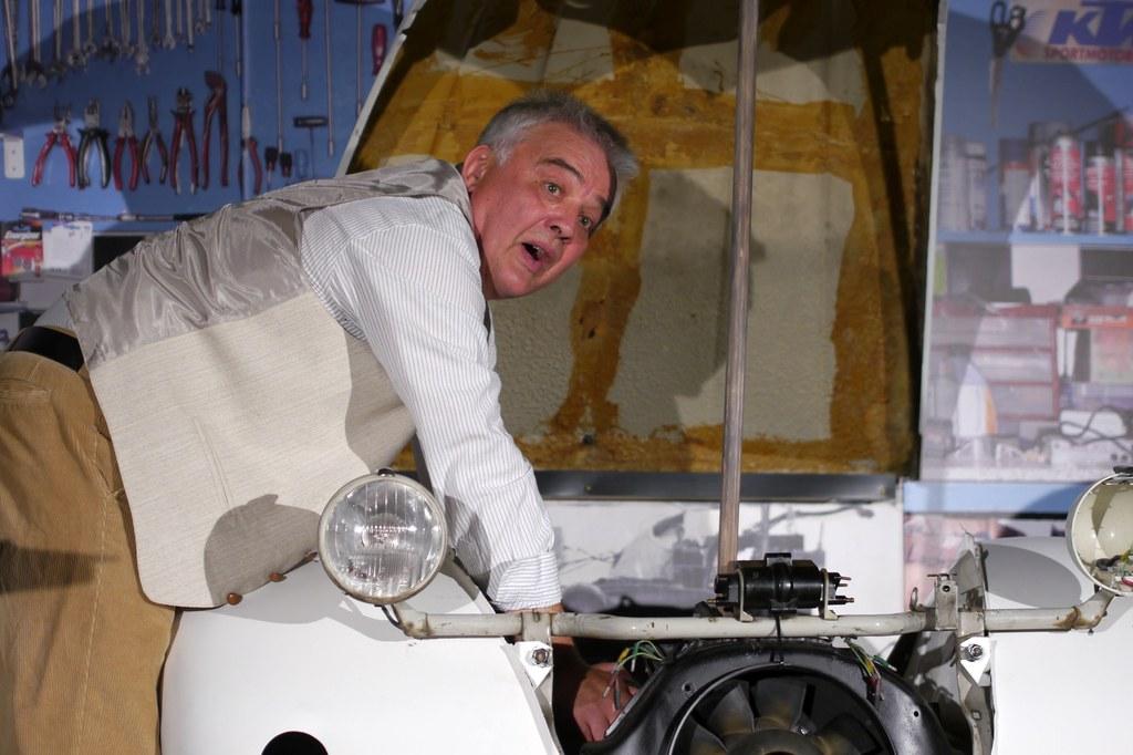 Bernd Schüren in der Rolle des Rentner Bodo,  Foto: Filipiak.
