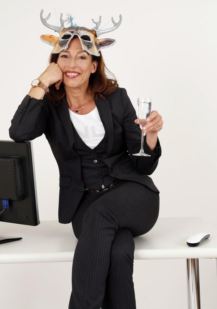 Kabarettistin Andrea Volk, Foto: Britta Schüßling.