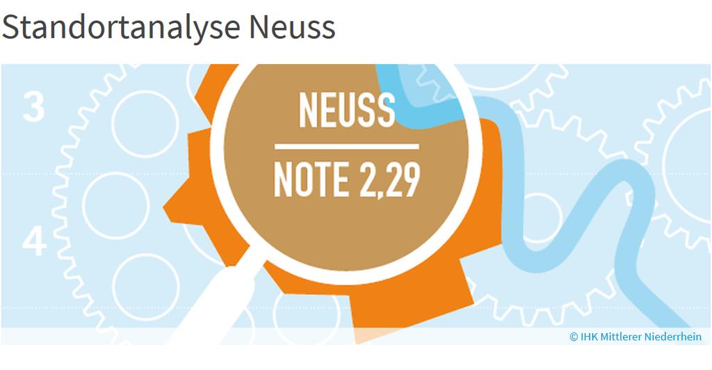 Stadt Neuss und IHK begrüßen das positive Ergebnis der Analyse.