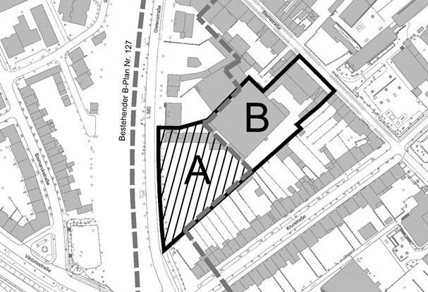 Neuer Lebensmittelmarkt und Wohnungsbau an der Gielenstraße