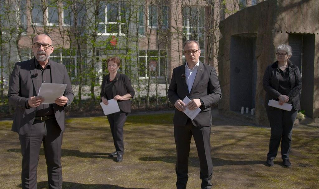 Bert Römgens, Angelika Quiring-Perl, Bürgermeister Reiner Breuer und Dorothea Gravemann (v.l.)