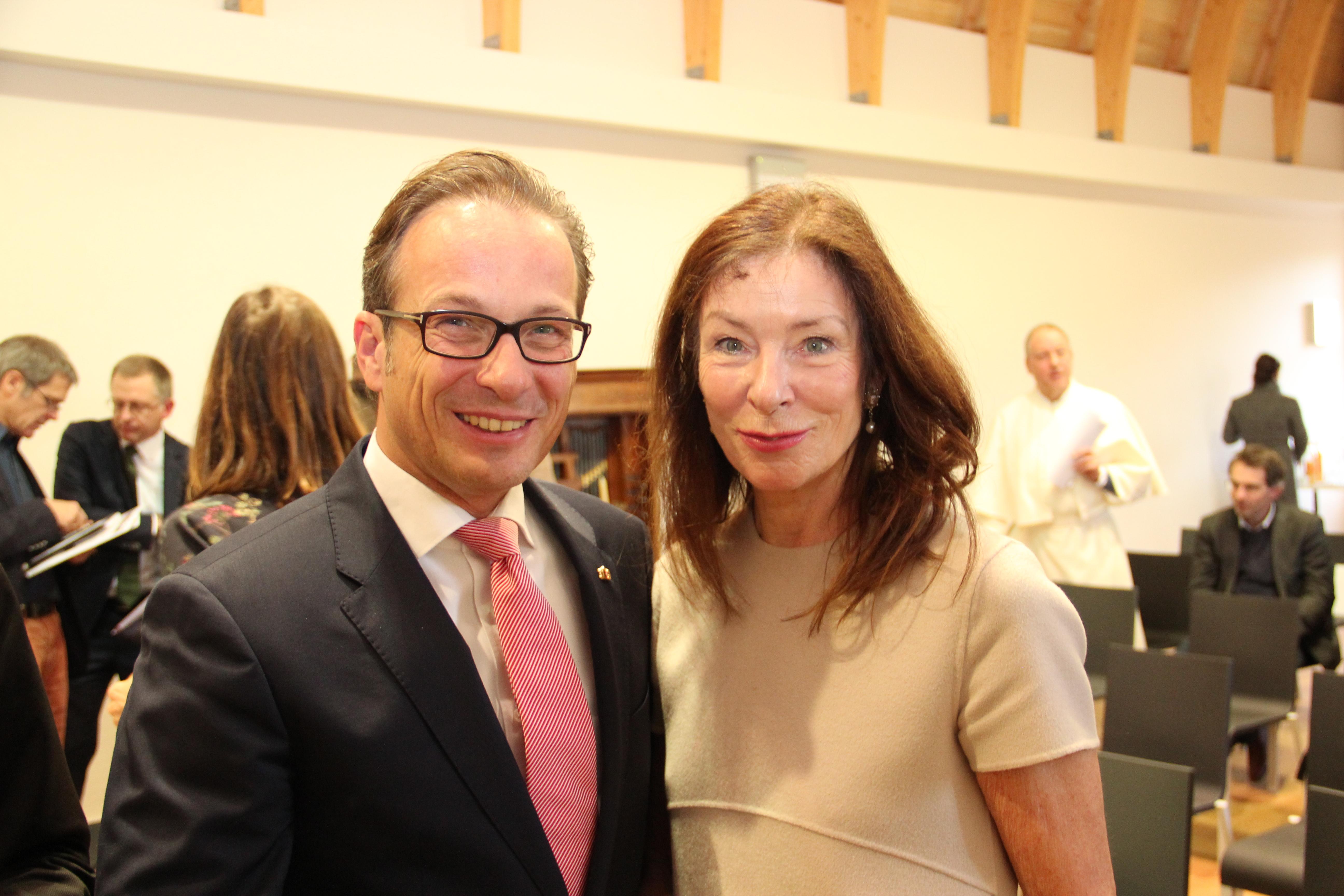 Bürgermeister Reiner Breuer mit der Vorsitzenden der deutschen UNESCO-Kommission, Dr. Verena Metze-Mangold