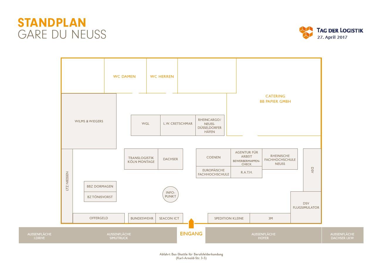 Tag der Logistik Hallenplan