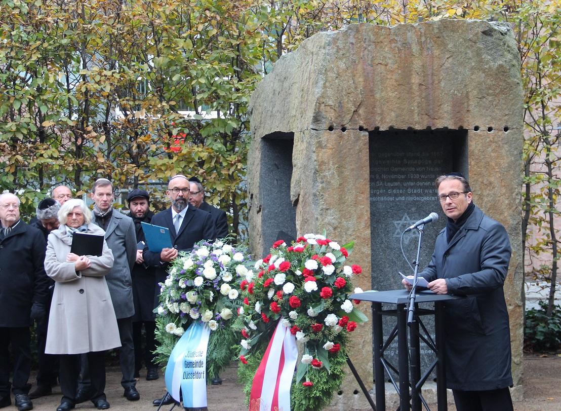 Gedenkstunde 9. November 2017 Bürgermeister Reiner Breuer