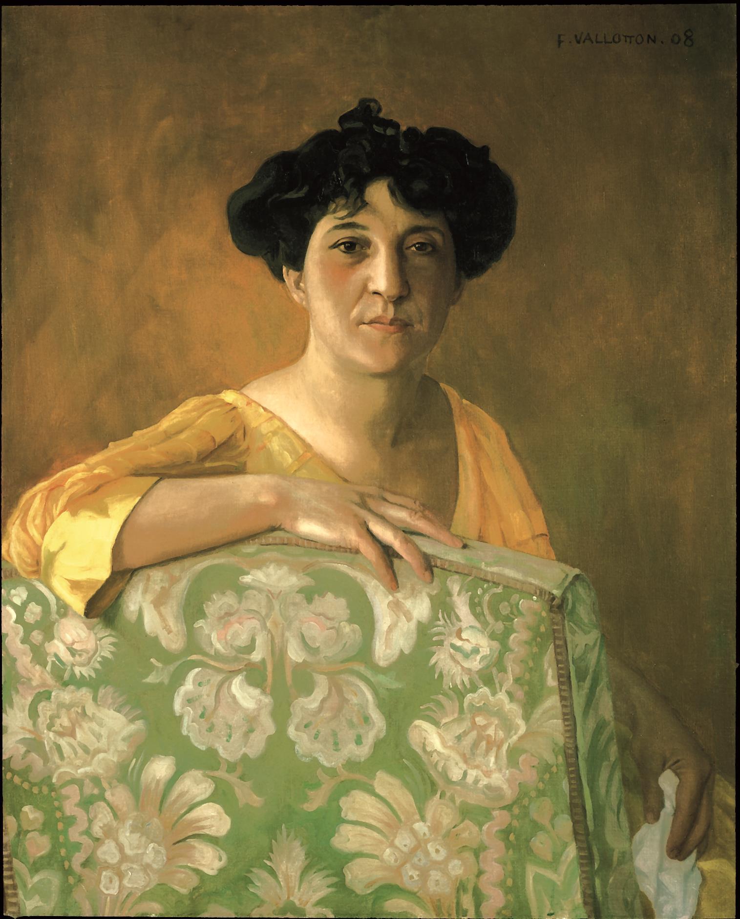 Portrait von Gabrielle Vallotton aus der Sicht ihres Ehemannes Félix Vallotton.