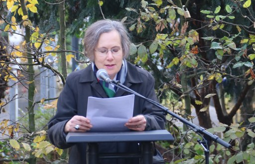 Gaby Glassman-Simons erinnerte an das Schicksal ihrer Familie.