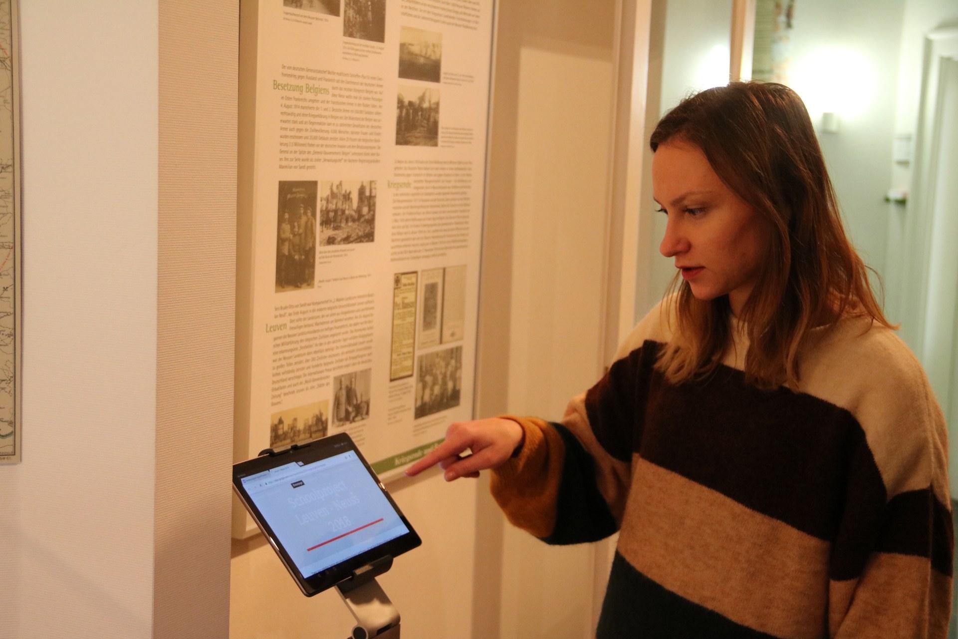 Natalia Korotkaya, Stadtarchiv Neuss, entwickelte die Audio-Geschichten..JPG
