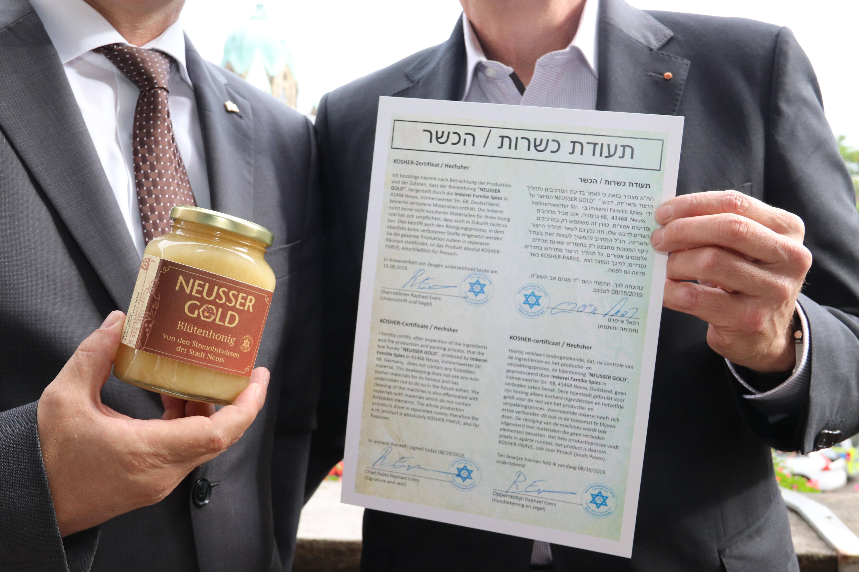 2709 NEUSSER GOLD-Honig erhält Kashrut-Zertifikat_02.jpg