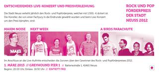 Rock- und Popförderpreis 2012