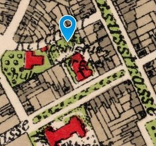 Evangelischer Friedhof: Historischer Lageplan 1925