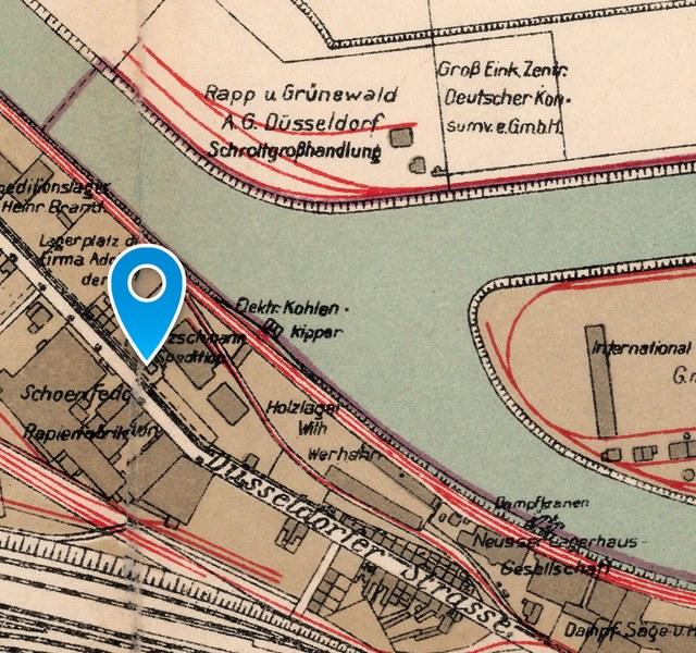 Ehemaliger jüdischer Friedhof: Historischer Lageplan 1925