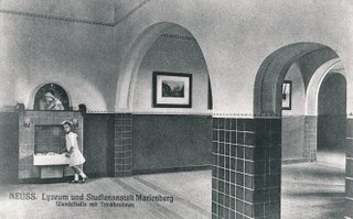 Wandelhalle mit Trinkbrunnen