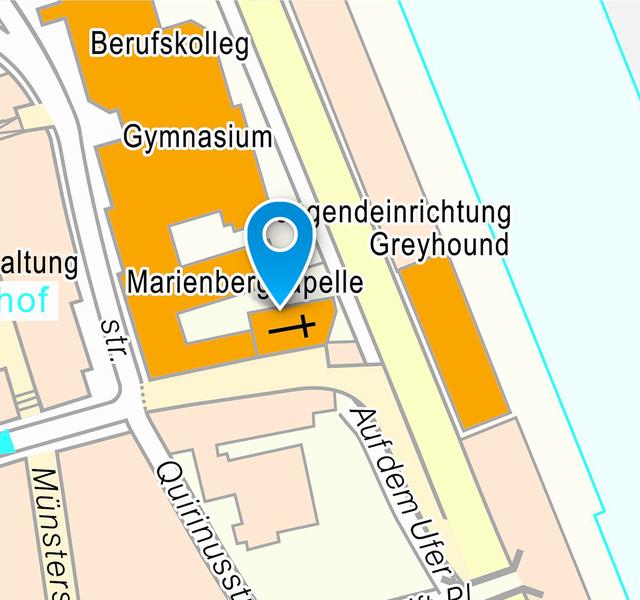 Kirche und Kloster Marienberg: Lageplan Innenstadt