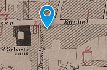 Em Schwatte Päd: Historischer Lageplan 1873