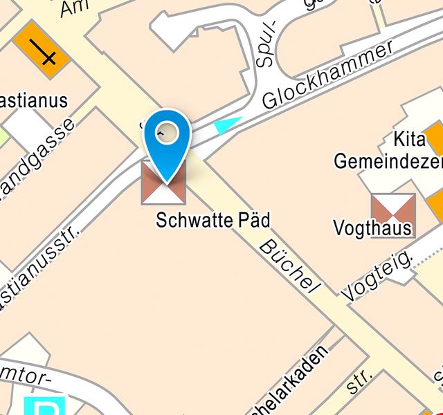 Em Schwatte Päd: Lageplan Innenstadt