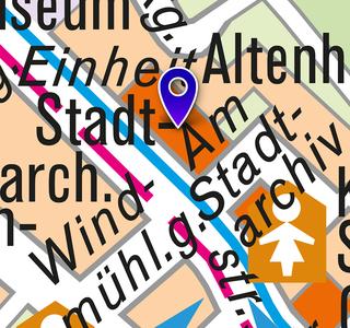 Stadtarchiv: Lageplan 2018