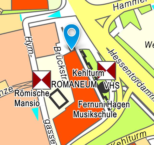 Ferdinand-Lassalle-Tafel: Lageplan Innenstadt