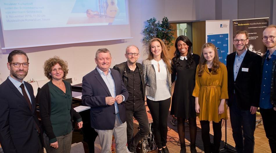 """Beim Neusser Kulturforum mit dem Titel """"Haste Töne"""" ging es darum, junge Leute dafür zu begeistern, Musik zu machen. Foto: Georg Salzburg"""