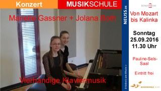 Vierhändige Klaviermusik im Romaneum