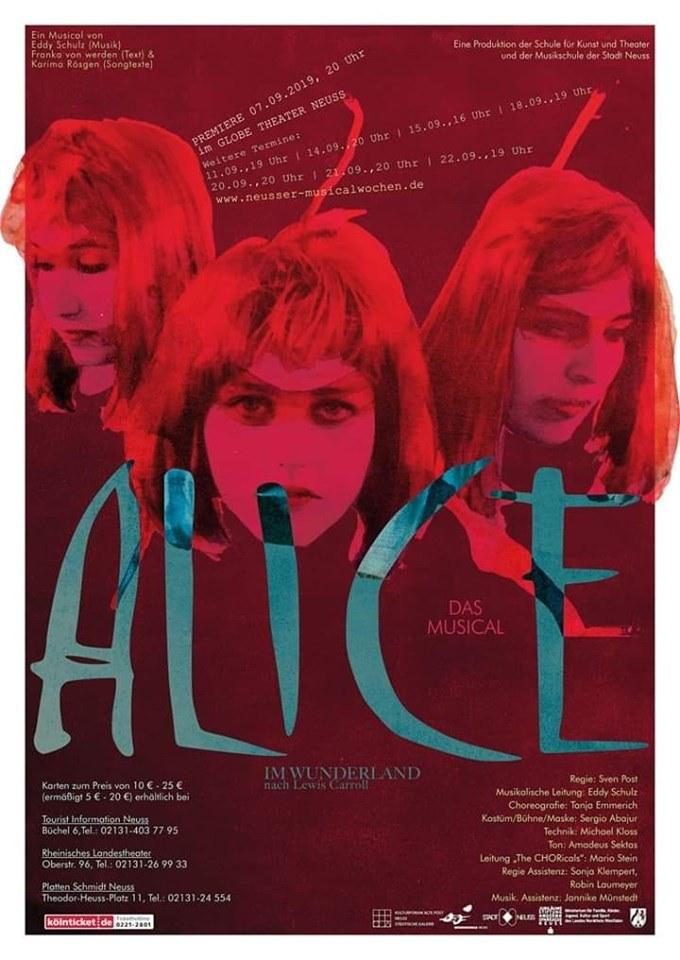 """Plakat zu """"Alice im Wunderland"""""""