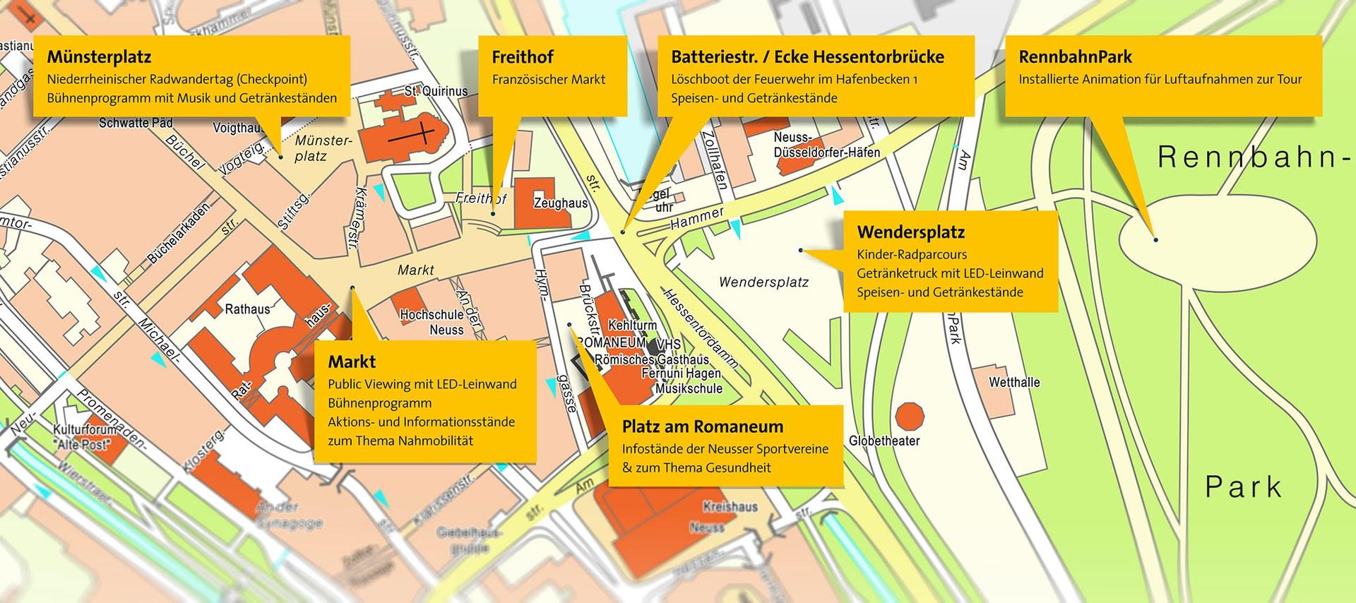 Karte Aktionstag: Innenstadt