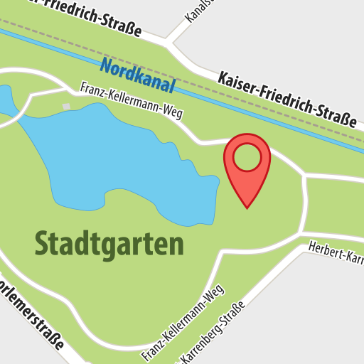 Karte Stadtgarten