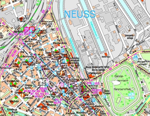 Rubrikenbild: Generalisierte Stadtpläne