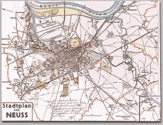 Neusser Stadtplan 1934