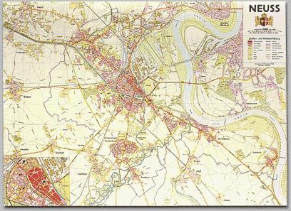Neusser Stadtplan 1957