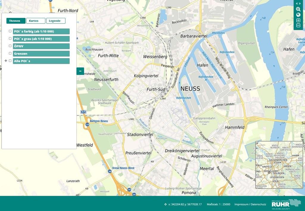 Stadtplan Neuss - Regionalverband Ruhr