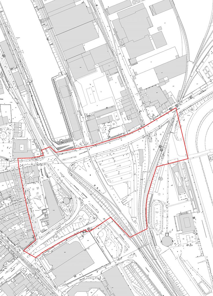 Kartenausschnitt mit dem Wendersplatz und den Grenzen des Wettbewerbsgebiets