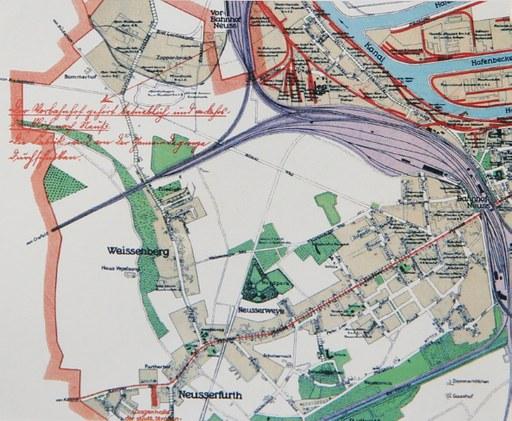 Die Nordstadt 1928: noch viele unbebaute Flecken