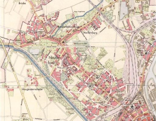 Die Nordstadt 1955: die Bebauung wird enger