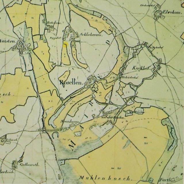 Karte 1807 mit einzelnen Höfe und Ortsteile