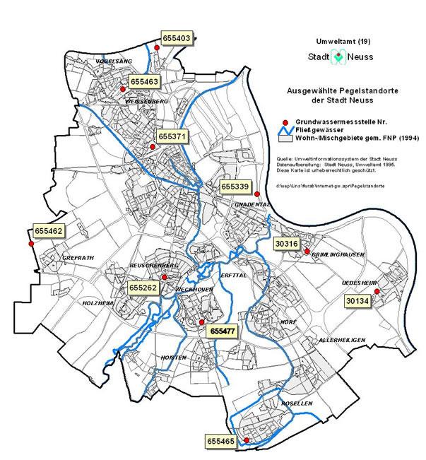 Grundwasserstand Karte Nrw.Grundwasser Neuss Am Rhein