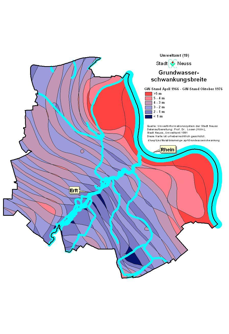 Grundwasserstand Karte Nrw.Abbildungen Zum Grundwasser In Neuss Neuss Am Rhein