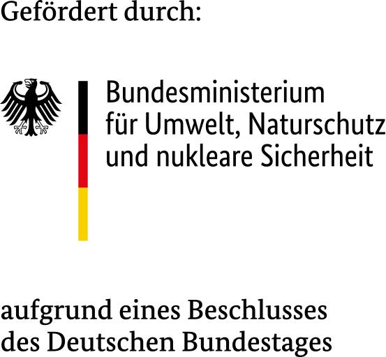 Bundesministerium für Umwelt, Naturschutz und nukleare Sicherheit – gefördert aufgrund eines Beschlusses des Deutschen Bundestages