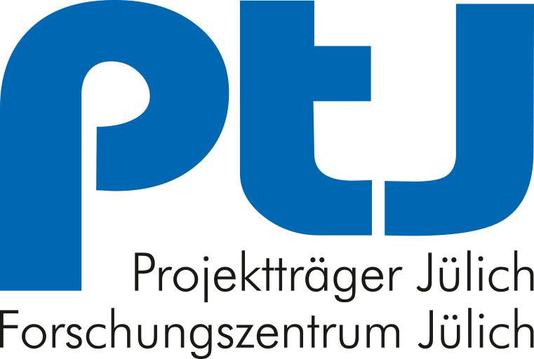 Fördererlogo: Projektträger Jülich – Forschungszentrum Jülich