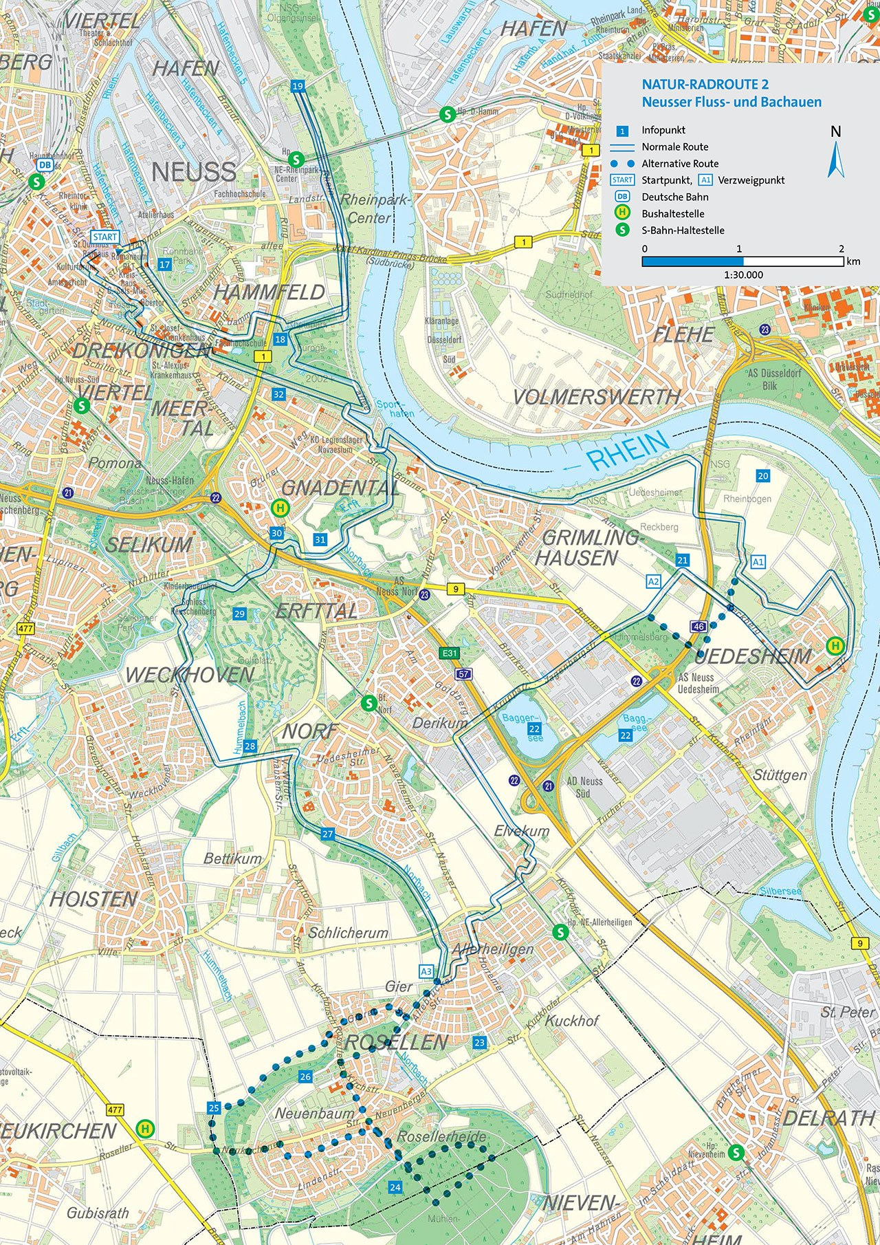 Natur-Radroute 2: Karte