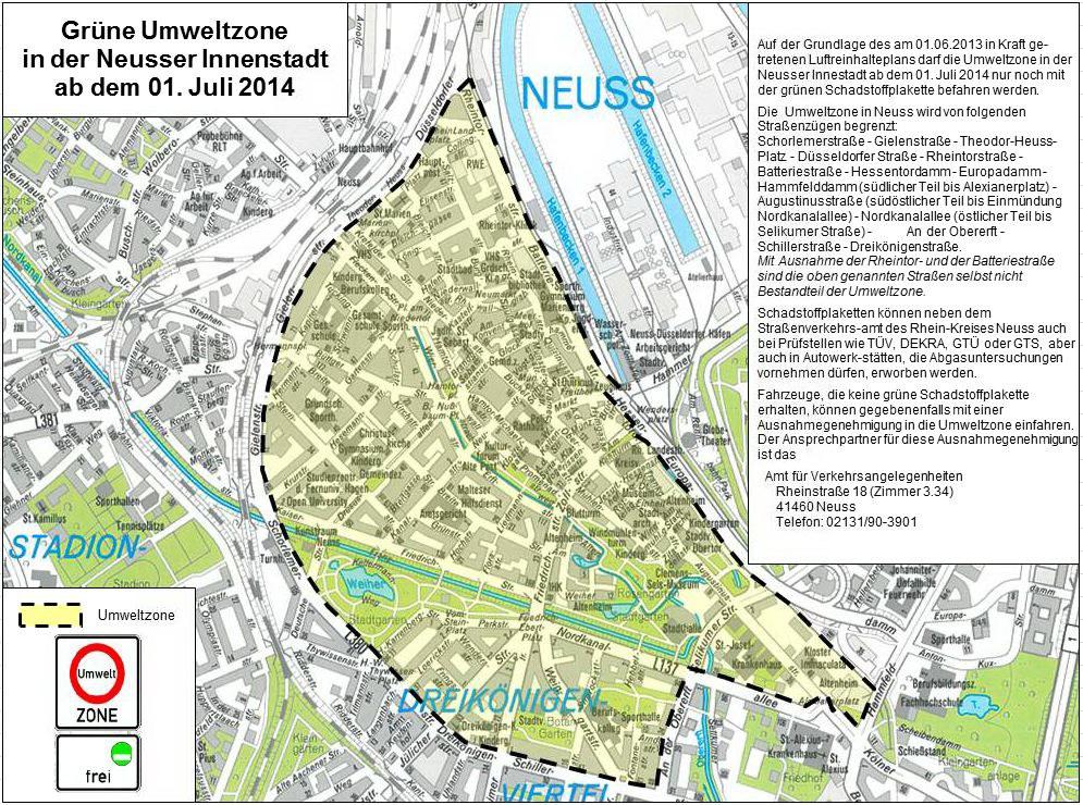 Umweltzone ab 01.07.2014