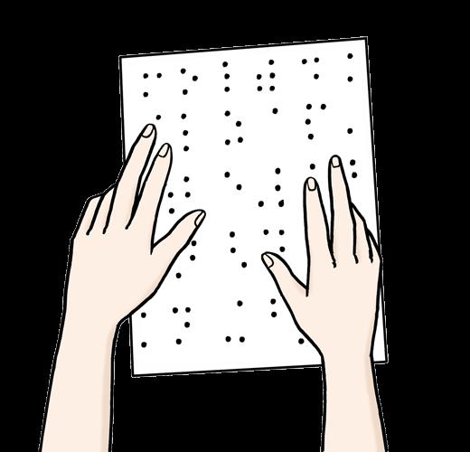 Schrift für Blinde.