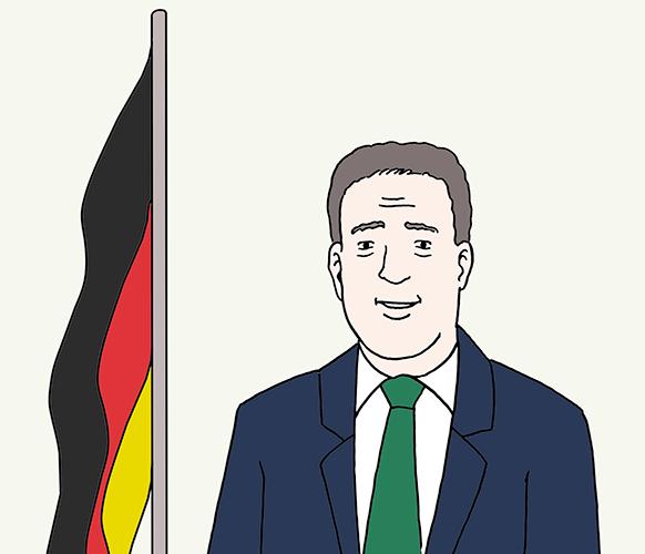 Bundes-Präsident von Deutschland.