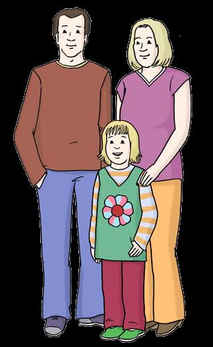 Eltern mit Kind.