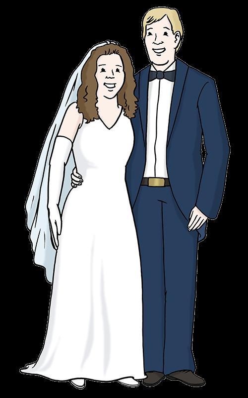 Verheiratetes Paar.