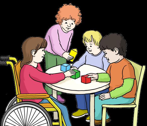Kinder in einer Kinder-Tages-Einrichtung.