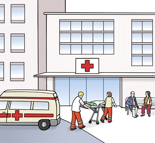 Krankenhaus.