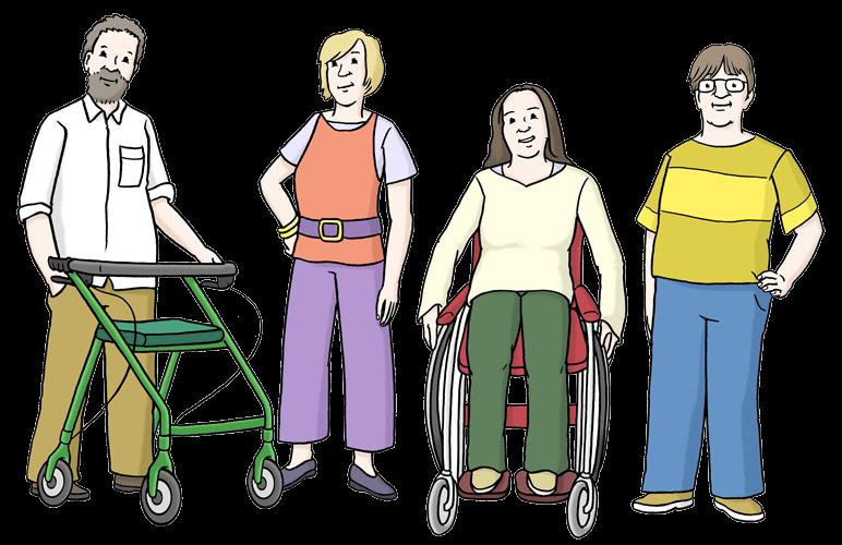 Menschen mit Behinderungen.